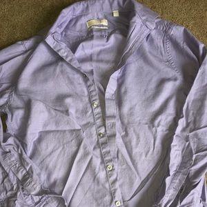 Michael Kors Men's Lavender Button Down SZ L